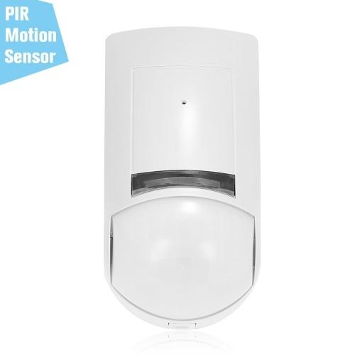 Doble detector de infrarrojos pasivo y microondas Sensor de movimiento PIR Montado en la pared Alarma con cable Salida NC para el sistema de alarma de seguridad antirrobo en el hogar