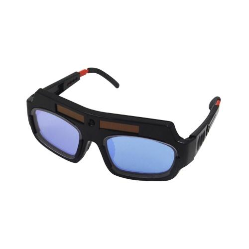 Solar Powered Auto Darkening Welding Goggle Mask Helmet Welder Glasses