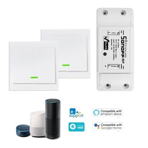 Interruttore RF 433 MHz RF SONOFF 1 PZ compatibile con Alexa