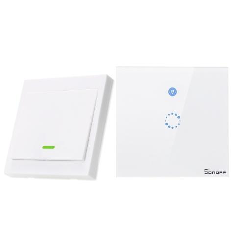 SONOFF T1 EU ITEAD 1 Interruptor de luz de pared inteligente WiFi de pandillas