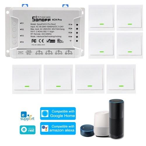 1 PCS SONOFF 4CH Pro R2 ITEAD RF 433 MHz 4 Gang WiFI Interruptor