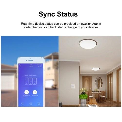 SONOFF T2UK1C-TX 1 Gang Smart WiFi Настенный выключатель света 433 МГц РЧ пульт дистанционного управления APP / Таймер сенсорного управления Стандартная панель управления Smart Switch, совместимая с Google Home / Nest & Alexa фото