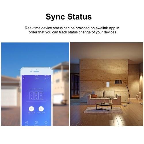 SONOFF T2US1C-TX 1 Gang Smart WiFi Interruttore applique da parete 433MHz Telecomando RF APP / Timer controllo tocco Smart Switch pannello standard USA Compatibile con Google Home / Nest & Alexa