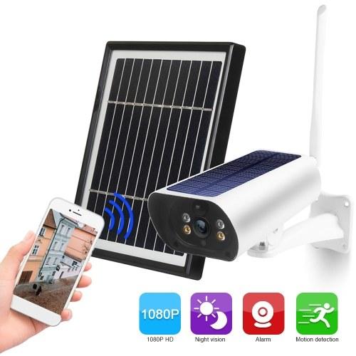 Wifi Solar Camera 1080P Wireless Minitor Plug-in Free Support Adaptive Code Rate Voice Call Remote Wake Two Solar Panel