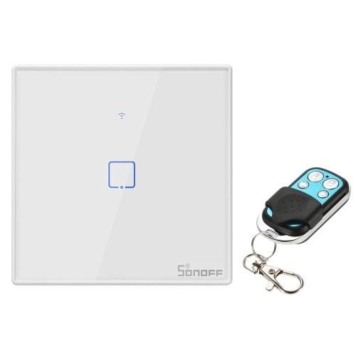 SONOFF T2EU1C-TX Interrupteur mural intelligent 1 Gang avec WiFi