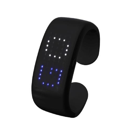 Pulseira LED Bluetooth APP Controle Slap Pulseira LED Display