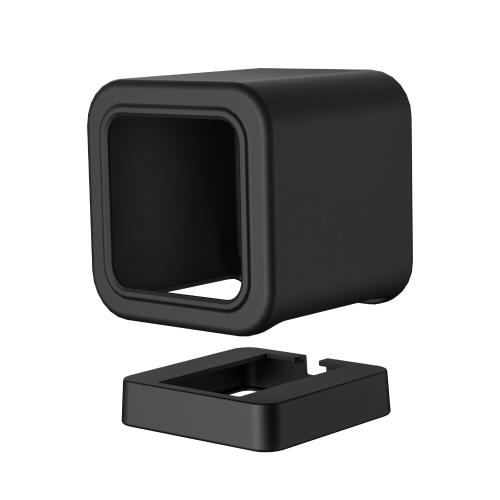 Compatible con Wyze Cam V3 Mount, Funda protectora de silicona Soporte de montaje en pared con soporte de montaje en pared Compatible con Wyze Cam V3, Proteger del polvo / caídas, Negro (1 paquete)