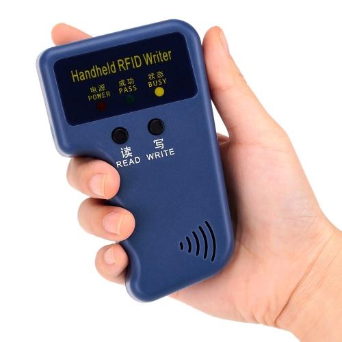 Duplicador de escritor/copiadora portátil 125kHz RFID cartão de identificação + cartões-chave 10pcs EM4305 gravável