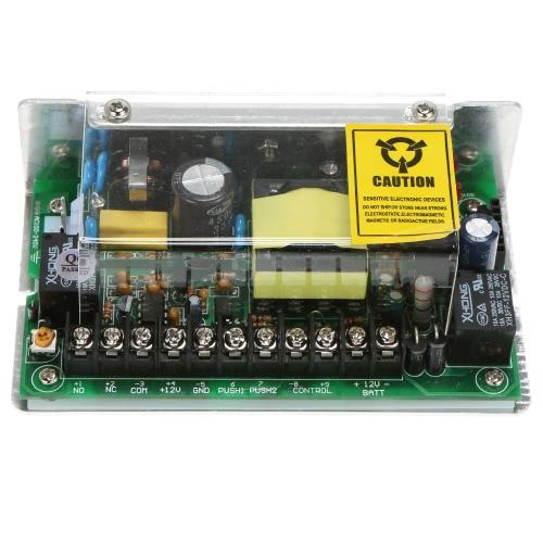 AC100-240V bis 12 V / 5 A Stromversorgung + 1 * Fernbedienung Unterstützung Sperre Zeitverzögerung Backup-Batterie für Türeinstieg Access Control System