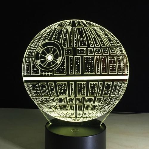 Iluminação 3D criativa da ilusão LED colorida da luz da noite