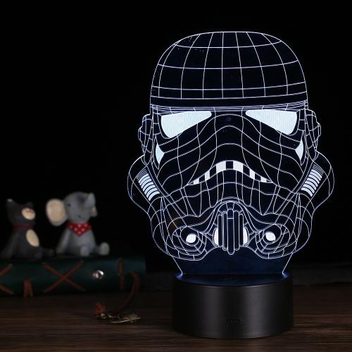 3D LEDデスクランプイリュージョンカラフルなテーブルナイトライト