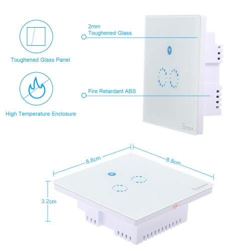 Back To Search Resultshome Improvement Electrical Sockets Electrical Socket Us Eu Touch Wifi Smart Swtich Phone Wireless Wall Glass Panel Led Light Sonoff Promote The Production Of Body Fluid And Saliva