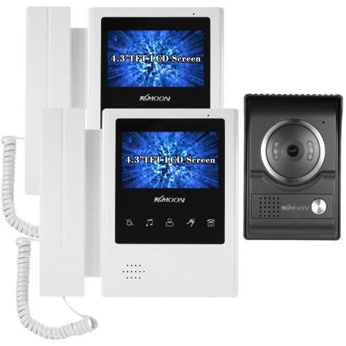 KKmoon 4,3-дюймовый проводной видеодомофон с функцией ночного видения от дождя. Визуальный домофон. Двусторонняя аудиосвязь. Видеодомофон. Домофон. Телефон. Стиль для камеры видеонаблюдения.