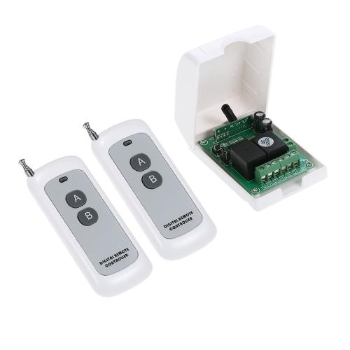 Smart Home 433 MHz RF DC 12 V 2CH Lernen Code Drahtlose Fernbedienung Schalter