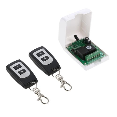 Smart Home 433 Mhz RF DC 12 V 2CH Lerncode Drahtlose Fernbedienung Schalter
