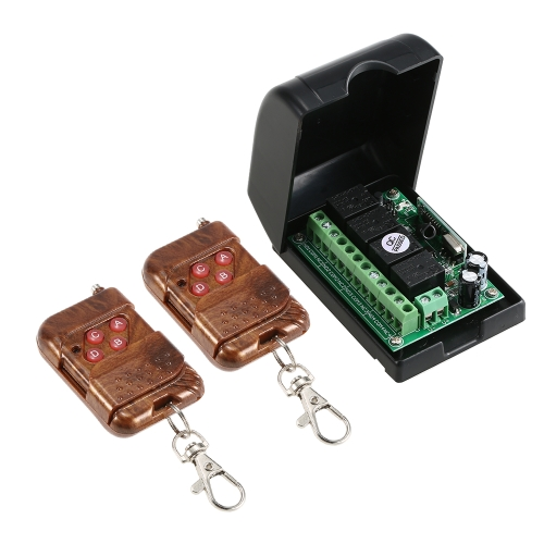 Smart Home 433 Mhz RF 4CH Drahtloser Fernsteuerungsschalter + 2 * Fernbedienung 1527