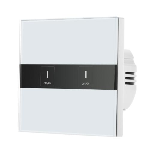 Smart Wifi Touch Switch Touchscreen LED Licht Wireless 2 Gang