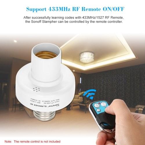 2PCS SONOFF Slampher ITEAD WiFi Smart Light Bulb Holder 433MHz RF E27  Wireless Lamp Holder Works with Amazon Alexa & for Google Home/Nest