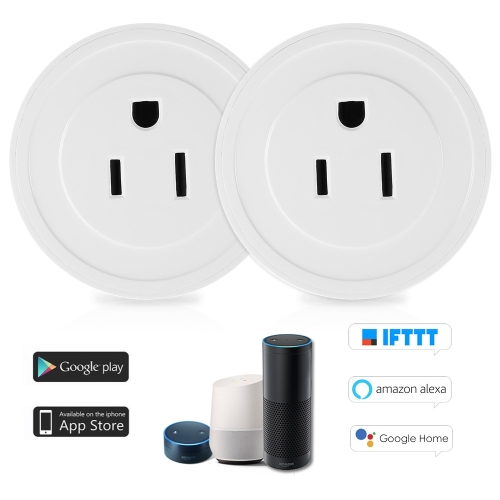 2 Pack Wi-Fi Wireless Mini Smart US-Stecker Kompatibel mit Amazon Alexa & für Google Home / Nest IFTTT für TP-Link