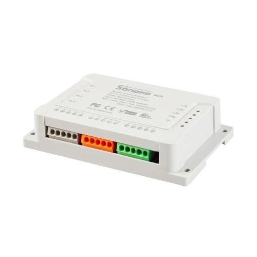 SONOFF 4チャンネルDINレール取り付け用WiFIスイッチ