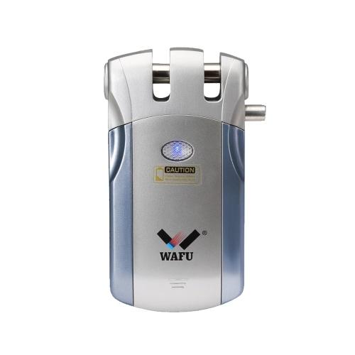 WAFU WF-018 Télécommande sans fil Sécurité Invisible Porte Sans Porte Invisible Serrure Intelligente Alliage de Zinc Métal Serrure de Porte Intelligente avec 2 Clés à Distance Smart Home Villa Système de sécurité de Contrôle d'accès Bureau