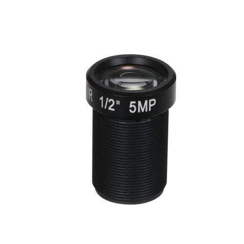 Lente de cámara de acción HD 5.0 megapíxeles Lente de 25 mm IR M12 Montaje de lente de mesa CCTV MTV
