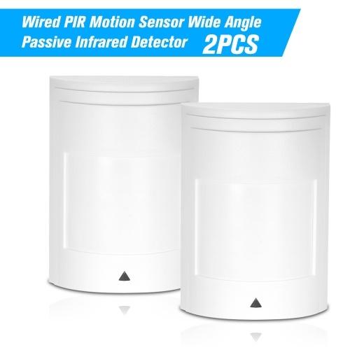 2 STÜCKE Verdrahtete PIR Bewegungsmelder Weitwinkel Passive Infrarot-detektor Für Einbruch Alarmanlage