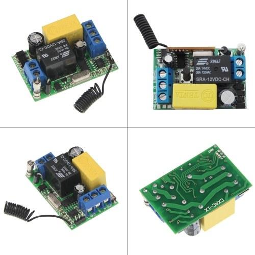 ワイヤレスリモコンスイッチ受信機1ギャング433MHzプッシュボタンウォールライトスイッチパネルリモートトランスミッタ