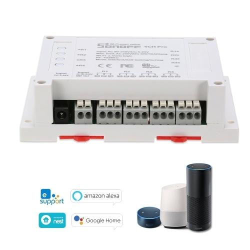 SONOFF 4CH PRO ITEAD RF 433MHz 4ギャングWiFIスイッチ3つのワーキングモードWiFiスマートスイッチ