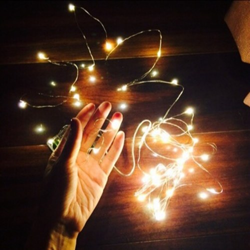 LED Clear Battery Holder Indoor Outdoor Decoration Festoon Party Christmas Tree Garden Yard Fence Lamp