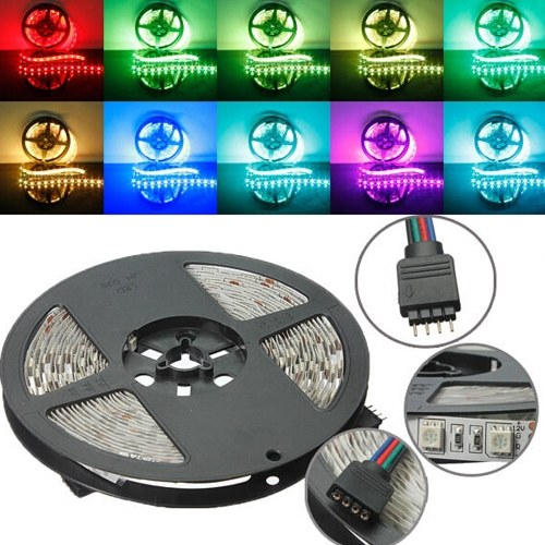 5M RGB Non-Waterproof 300 LED SMD 5050 LED Strip Light DC