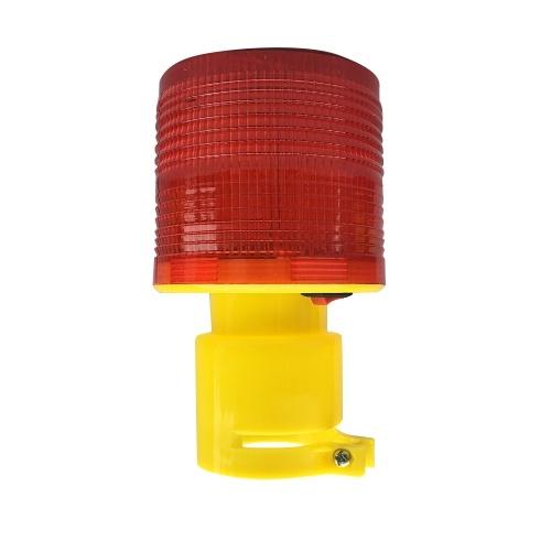 Luzes de advertência solares 3pcs Leds lâmpadas de aviso de energia solar vermelho