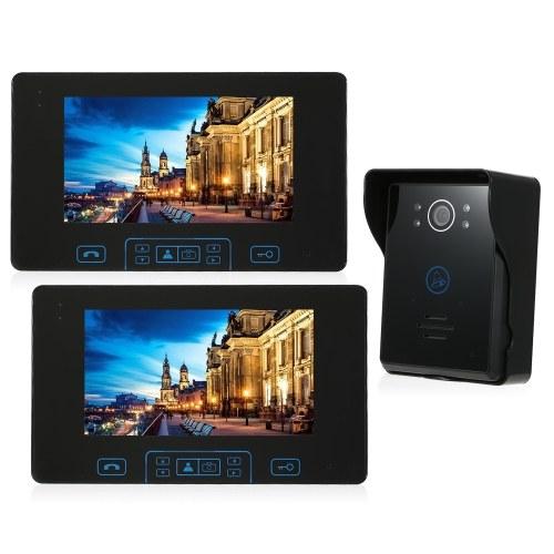 2.4 GHz Sem Fio Digital Telefone Da Porta Campainha Intercom Sistema 2 * Monitor Indoor & 1 * Câmera Ao Ar Livre