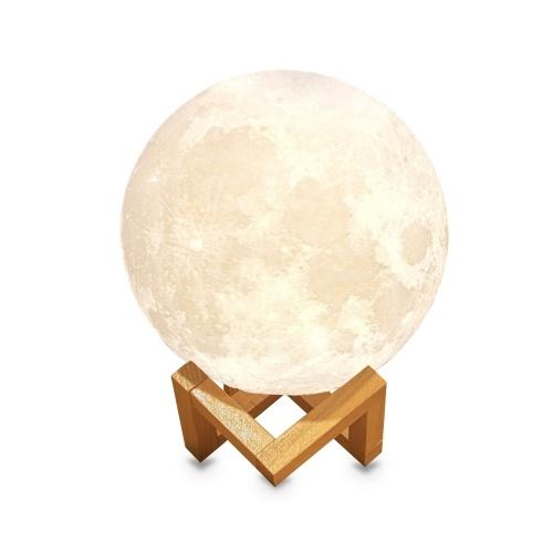 A luz da noite da lua de 15cm / 5.9in / 3D imprimiu a lâmpada do globo da lua