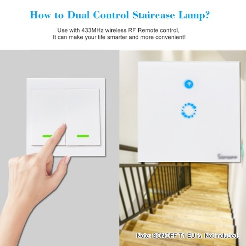 2PCS eWeLink Push Button Wall Light Switch Remote Controller 2 Gang 86 Type ON/Off Switch Panel 433MHz Wireless RF Remote Control Transmitter with Stickers Free Position Flexible For Home Living Room Bedroom