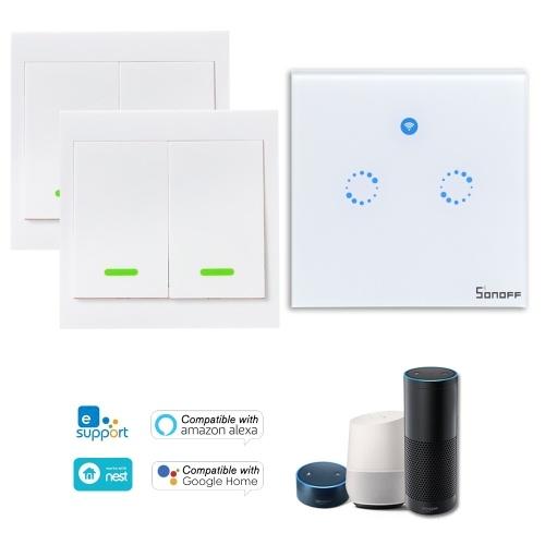1PCS SONOFF T1 1 Gang Smart WiFi Interruptor de luz de pared