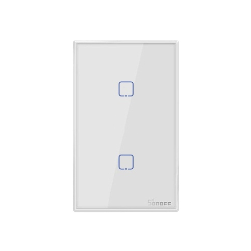 SONOFF T2US3C-TX 3 Gang Smart WiFi Wall Light Switch 433MHz RF Remote Control APP/Touch Control Timer US Standard Panel Smart Switch Compatible with Google Home/Nest & Alexa
