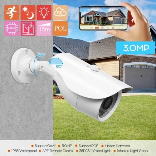 3MP 1PCS CCTV Camera 3.6mm Lens POE High-resolution Night-vison Indoor Bullet Camera Analog Security Camera