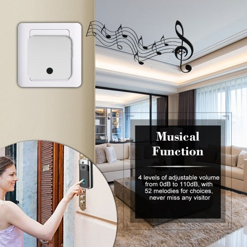 Smart HD 1080P Wireless Video Intercom WI-FI Video Door Phone Visual Door Bell WIFI Doorbell Camera for Apartments IR Alarm Wireless Security Camera with Batteries & 2 Chimes Silver