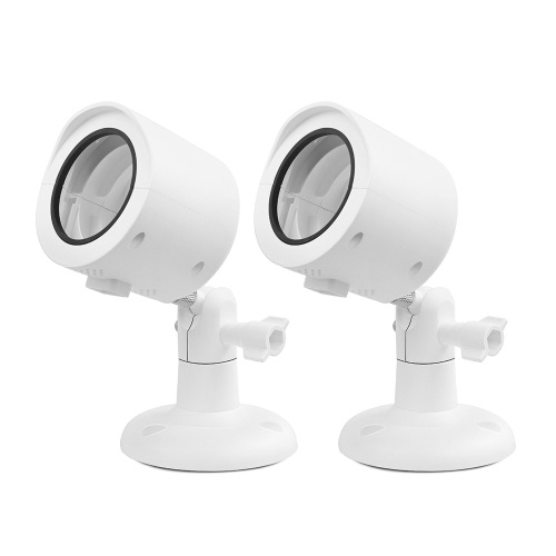 2PCS/Set Wall Mount for YI Home Camera Wall Mounted 360 Degree Swivel Bracket Holder Case Cover for YI 1080p/720p Home Camera Outdoor&Indoor Weatherproof, White