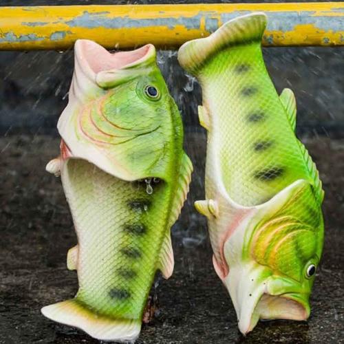 Мода Рыбные тапочки Ручная работа Личность Рыба Сандалии Женщины Дети На открытом воздухе Пляжные тапочки фото