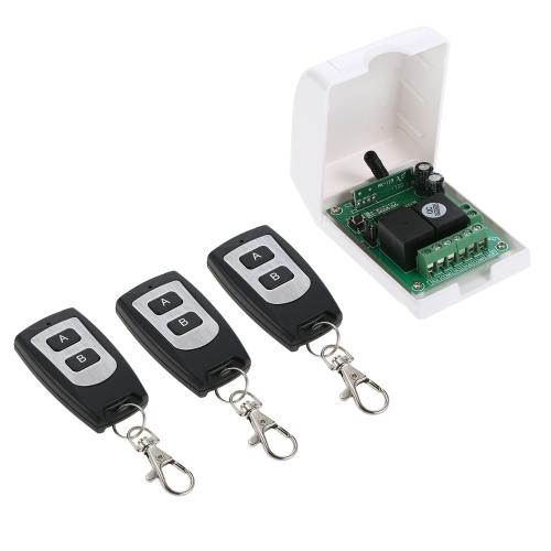 Smart Home 433Mhz RF DC 12V 2CH Código de aprendizagem Interruptor de controle remoto sem fio
