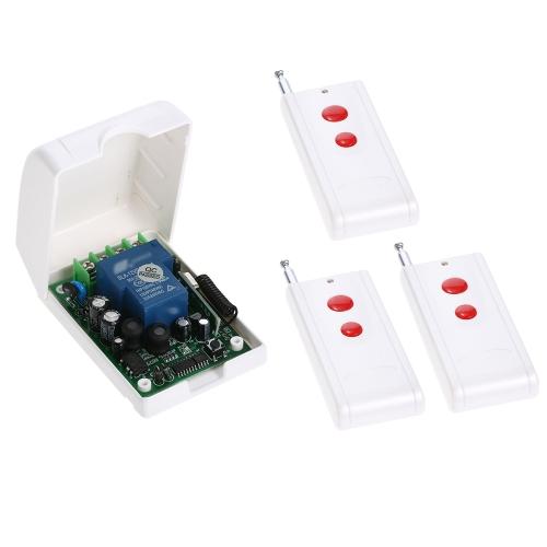 Smart Home 433 Mhz RF AC85V-250V Drahtloser Fernsteuerungsschalter + 3 * Fernbedienung 1527