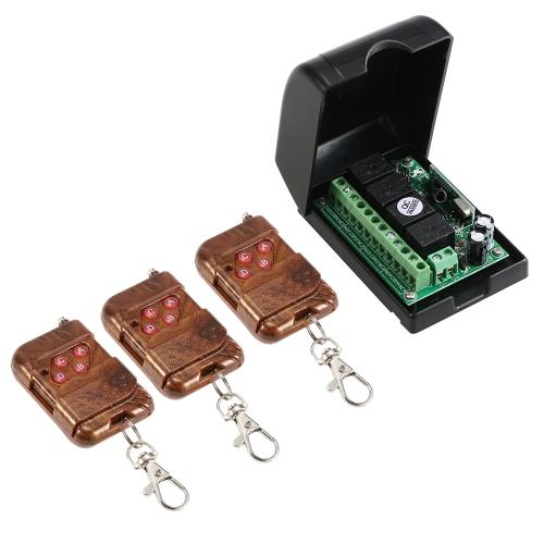 Smart Home 433 Mhz RF 4CH Drahtloser Fernsteuerungsschalter + 3 * Fernbedienung 1527
