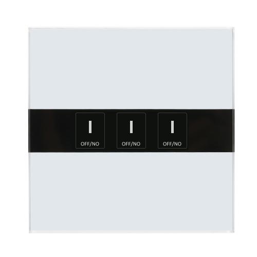 Smart Wifi Touch Schalter Touchscreen LED Licht Wireless 3 Gang UK