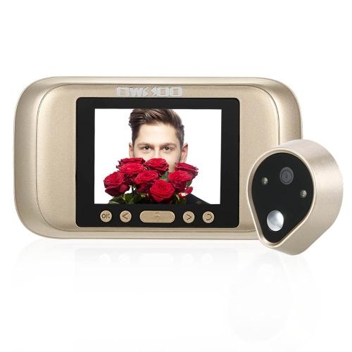 3.2インチLCDデジタルの穴の開いたビューアのドアの目のドアベルカメラ赤外線ナイトビジョンの写真撮影/ホームセキュリティのビデオ録画