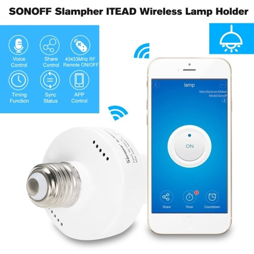 3PCS SONOFF  Slampher ITEAD WiFi Smart Light Bulb Holder 433MHz RF E27 Wireless Lamp Holder Works with Amazon Alexa & for Google Home/Nest