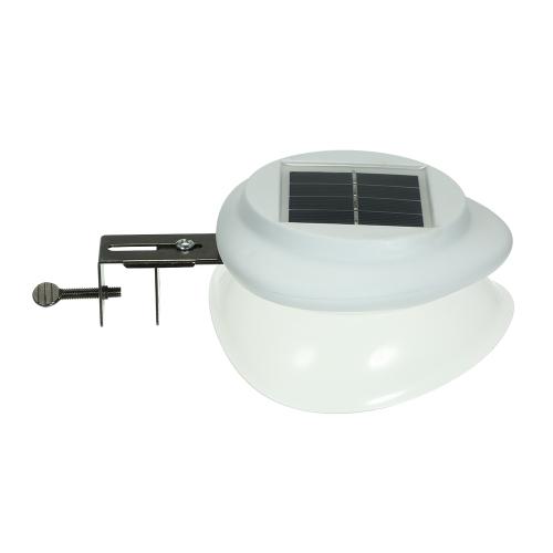 Lâmpada de cerca de energia solar UFO Shape 9 LED iluminação de calha