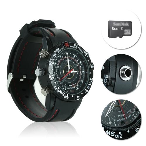 8G HD 960P Hidden Wrist Watch Camera