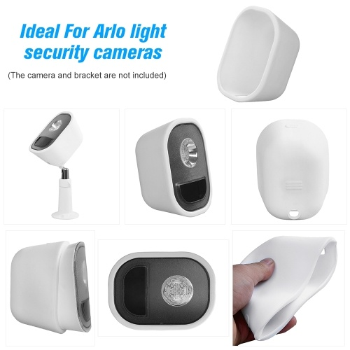 3 Pack Silicone Skin for Arlo Light Security Cameras Weatherproof UV-resistant Case , White